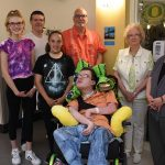The Longanecker family celebrated the dedication of Blake's new room in the sub-acute unit at Providence Child Center.