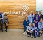 "Providence St. Vincent volunteers got a sneak peek at Basecamp where ""we heart you!"""