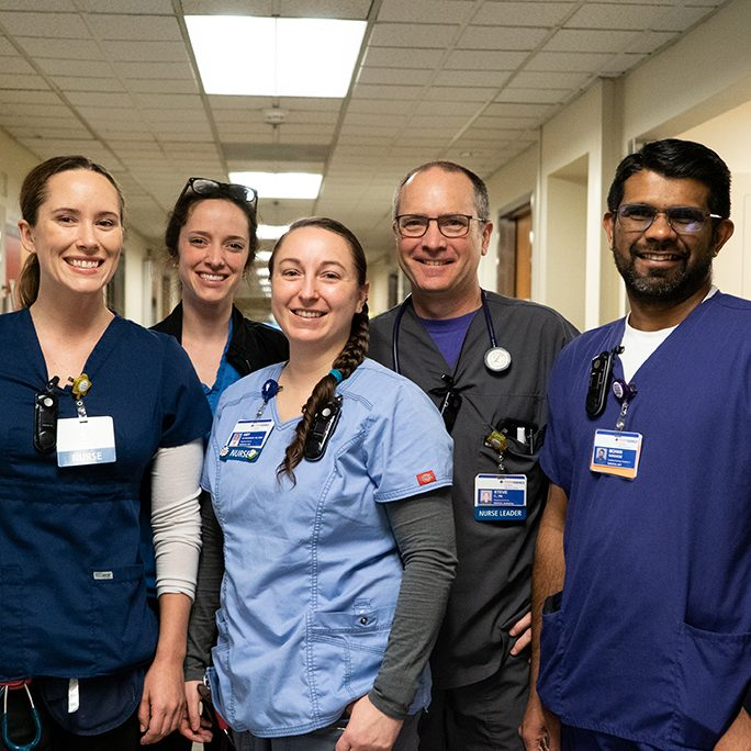 Here are just a few of the caregivers Coralynn thanks in her letter. (L to R):  Alysha Novak, Mackenzie O'Connell, Amy Schroeder, Steven Cloyes and Mohan Varghese