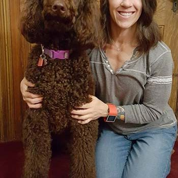Teale Adelmann is a caregiver at Providence Seaside Hospital and recipient of one of our scholarships to become a dog therapy handler. She works with two dogs, Jetty, pictured above, and Kilo.